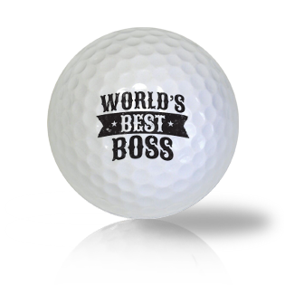 World's Best Boss Golf Balls