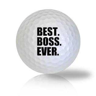 Best Boss Ever Golf Balls