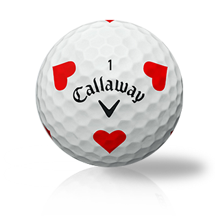 Callaway Chrome Soft Truvis Red Hearts Used Golf Balls - Foundgolfballs.com