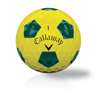 Callaway Chrome Soft Truvis Yellow / Green Used Golf Balls - Foundgolfballs.com