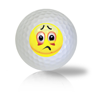 Can't Sleep Emoticon Golf Balls - Found Golf Balls