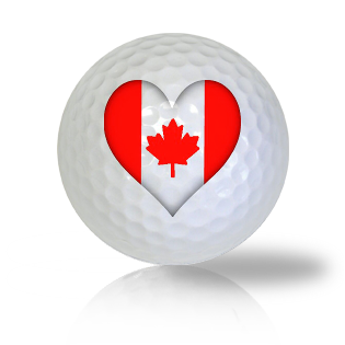 I Love Canada Golf Balls - Found Golf Balls