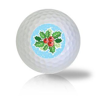 Christmas Holly Golf Balls - Found Golf Balls