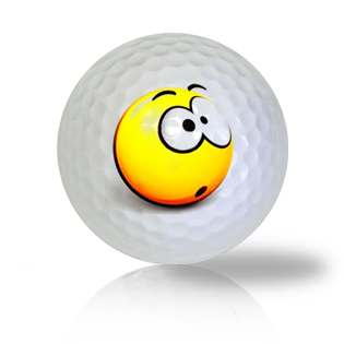 Completely Surprised Emoticon Golf Balls - Found Golf Balls