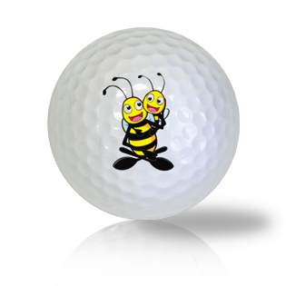 Cute Hugging Bees Golf Balls Used Golf Balls - Foundgolfballs.com