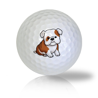 Cute Sitting Dog Golf Balls Used Golf Balls - Foundgolfballs.com