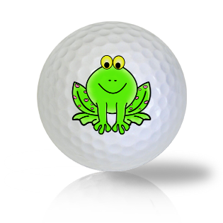 Cute Smiling Frog Golf Balls - Found Golf Balls