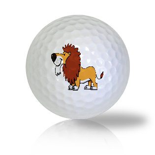Cute Standing Lion Golf Balls Used Golf Balls - Foundgolfballs.com