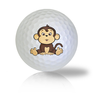 Cute Sitting Monkey Golf Balls Used Golf Balls - Foundgolfballs.com