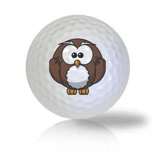 Cute Sitting Owl Golf Balls Used Golf Balls - Foundgolfballs.com