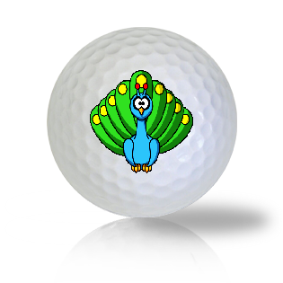Cute Sitting Peacock Golf Balls Used Golf Balls - Foundgolfballs.com