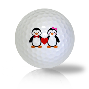 Cute Penguin Couple Golf Balls Used Golf Balls - Foundgolfballs.com
