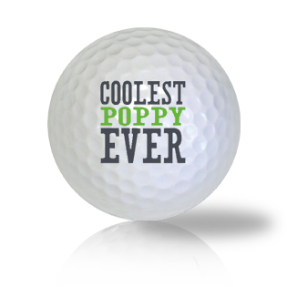 Coolest Poppy Ever Golf Balls Used Golf Balls - Foundgolfballs.com