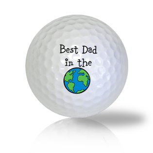 Best Dad In The World Golf Balls - Found Golf Balls