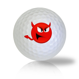 Devilish Emoticon Golf Balls - Found Golf Balls