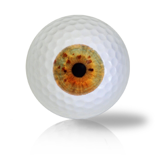 Orange Eye Ball Golf Balls Used Golf Balls - Foundgolfballs.com