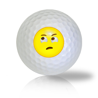 Rolling Eyes Emoticon Golf Balls