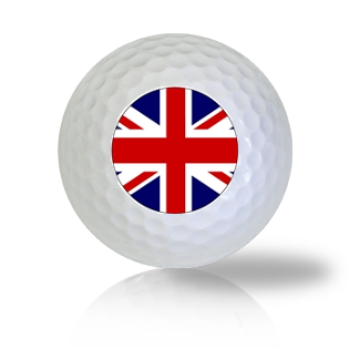 Britain Flag Golf Balls Used Golf Balls - Foundgolfballs.com
