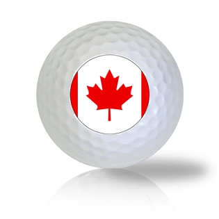 Canada Flag Golf Balls - Found Golf Balls