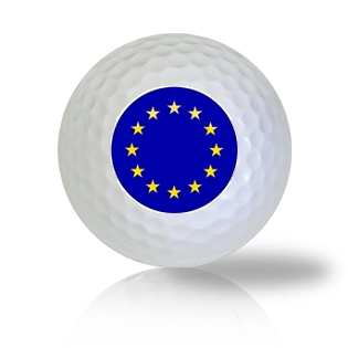 Europe Flag Golf Balls Used Golf Balls - Foundgolfballs.com