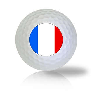 France Flag Golf Balls Used Golf Balls - Foundgolfballs.com