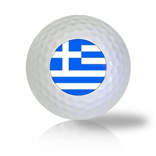 Greece Flag Golf Balls - Found Golf Balls