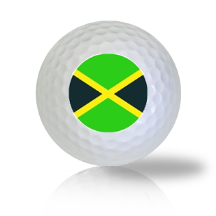 Jamaica Flag Golf Balls - Found Golf Balls