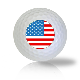 America Flag Golf Balls - Found Golf Balls