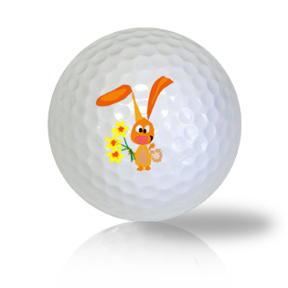 Friendly Bunny with Flowers Golf Balls Used Golf Balls - Foundgolfballs.com