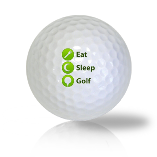 Eat Sleep Golf Golf Balls Used Golf Balls - Foundgolfballs.com
