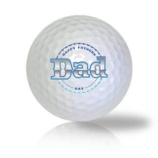 Happy Father's Day Dad Golf Balls Used Golf Balls - Foundgolfballs.com