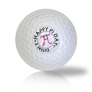 Happy Pi Day Golf Balls - Found Golf Balls