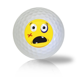 Hard Hurt Emoticon Golf Balls - Found Golf Balls