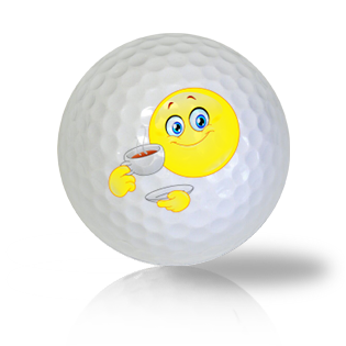 I'm Having Tea, Want Some? Emoticon Golf Balls - Found Golf Balls