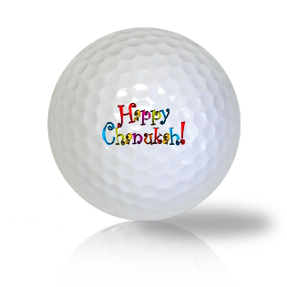 Happy Chanukah Golf Balls - Found Golf Balls