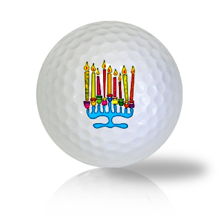 Menorah Golf Balls - Found Golf Balls