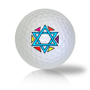 Star Of David Golf Balls Used Golf Balls - Foundgolfballs.com