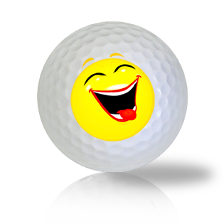 Laughing Heartily Emoticon Golf Balls - Found Golf Balls