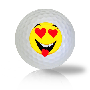 Love Emoticon Golf Balls Used Golf Balls - Foundgolfballs.com