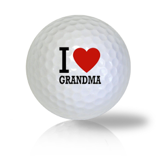 I Love Grandma Golf Balls - Found Golf Balls