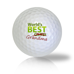 World's Best Grandma Golf Balls - Found Golf Balls