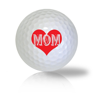 I Love Mom Golf Balls - Found Golf Balls