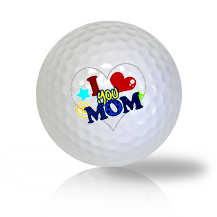 I Love You Mom Golf Balls - Found Golf Balls