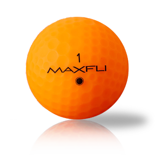 Maxfli StraightFli Matte Orange Used Golf Balls - Foundgolfballs.com