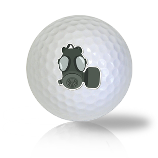 Gas Mask Golf Balls - Found Golf Balls
