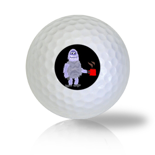 Monster with a Coffee Keeping Warm Funny Golf Balls Used Golf Balls - Foundgolfballs.com