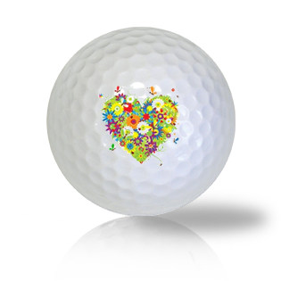 Happy Mother's Day Heart Golf Balls Used Golf Balls - Foundgolfballs.com