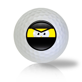 Ninja Emoticon Golf Balls