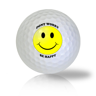 Don't Worry...Be Happy! Emoticon Golf Balls - Found Golf Balls