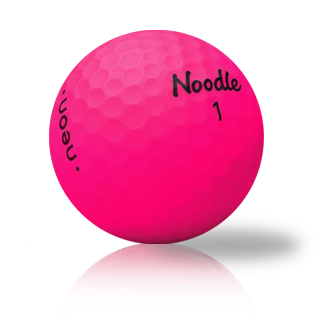 Noodle Neon Matte Pink Used Golf Balls - Foundgolfballs.com